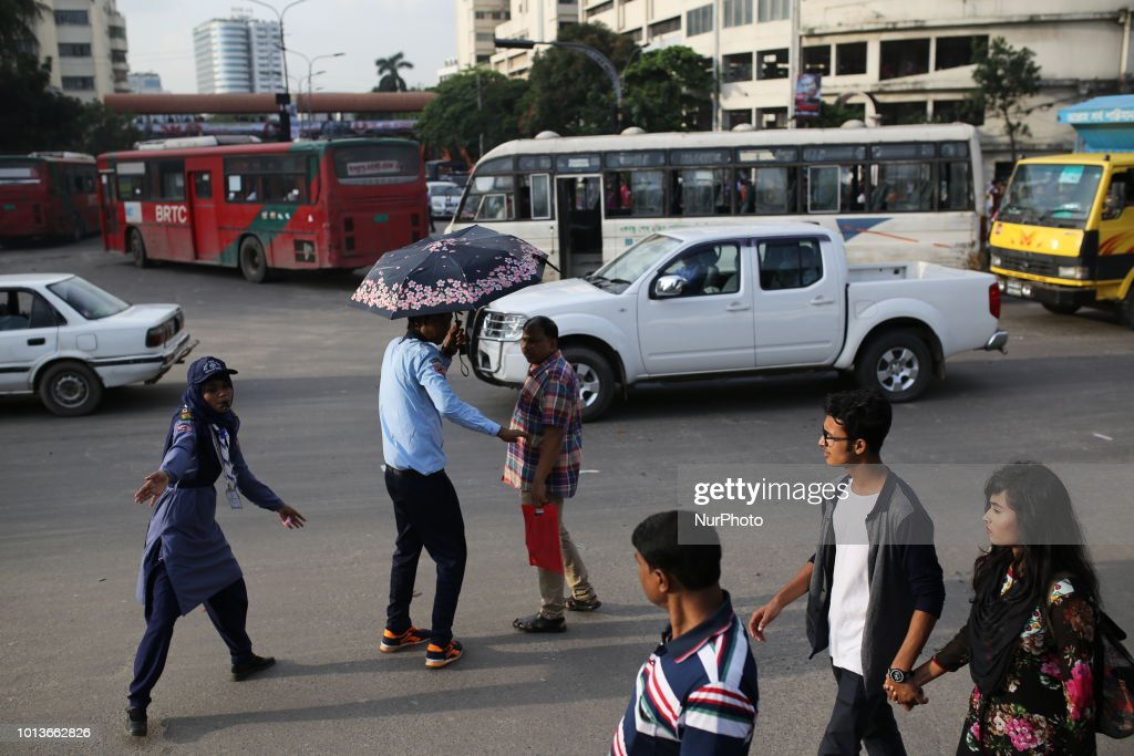 Bangladesh has launched special traffic week after students protest : News Photo