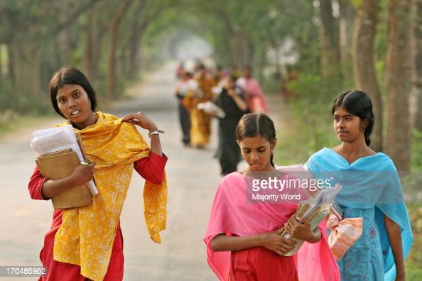 Bangladeshi Village Girls Come Back Form School At Jessore On News -7623