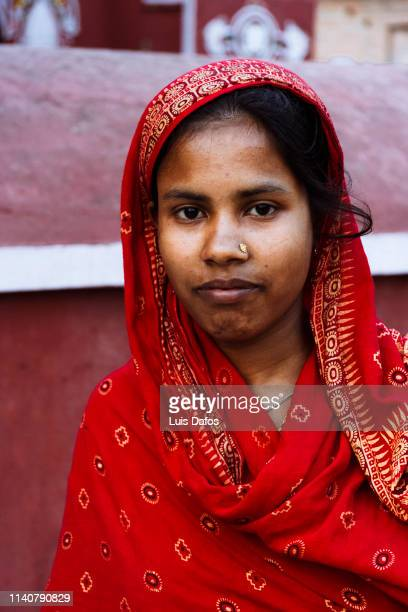bangladeshi woman portrait - khulna stock photos and pictures