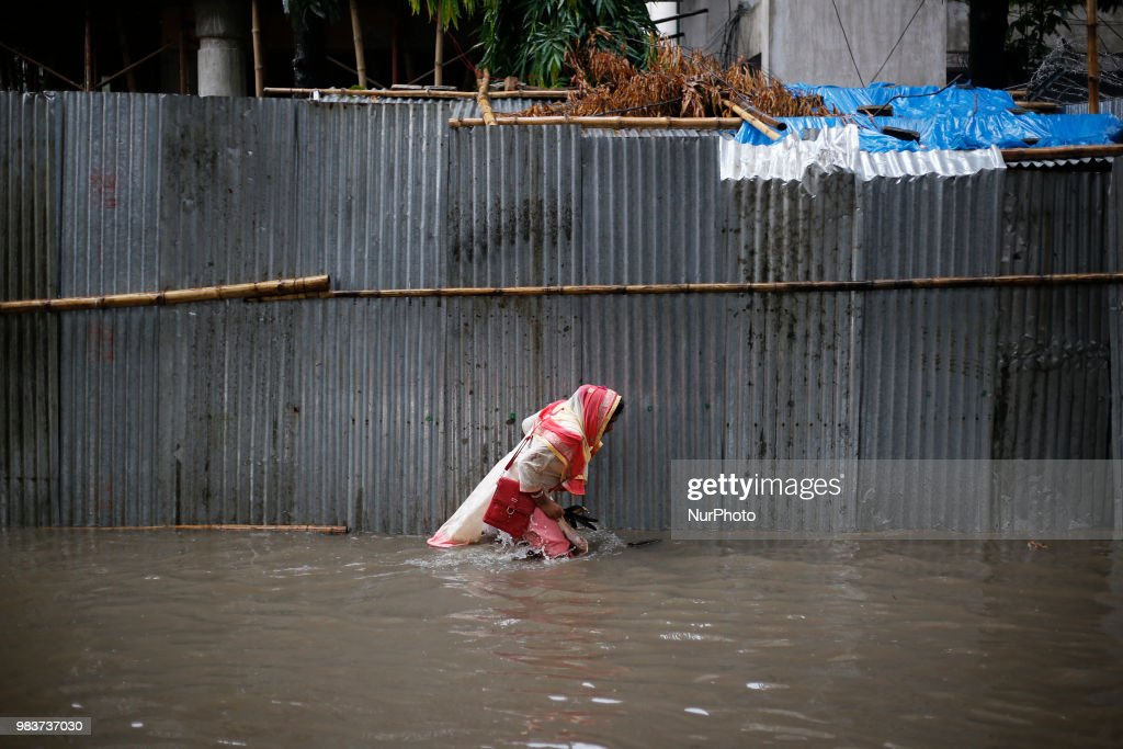 Streets Flooded In Dhaka