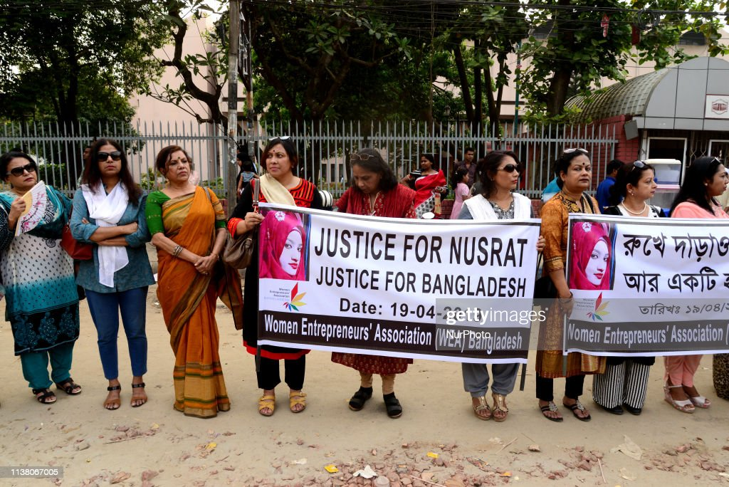 Protest Against The Murder Of Girl Student In Dhaka : News Photo