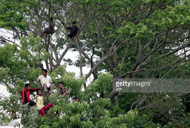 Bangladesh-media-agriculture-games,FEATURE by Helen Rowe Bangladeshi spectators take a high vantage point during filming of the television game show...