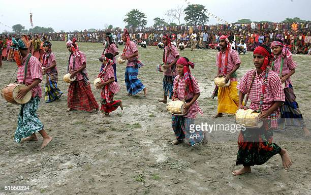 Bangladesh-media-agriculture-games,FEATURE by Helen Rowe Bangladeshi musicians perform a traditional music and dance routine during filming of the...