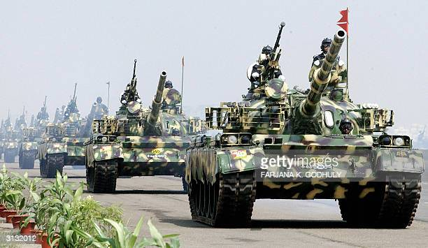 Bangladesh's Army T69 tanks parade during the celebrations of the country's 34th Independence Day in Dhaka 26 March 2004 Bangladesh became...