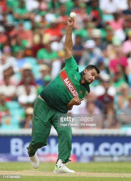 Bangladesh's Mashrafe Mortaza during the ICC Cricket World Cup group stage match at The Oval London