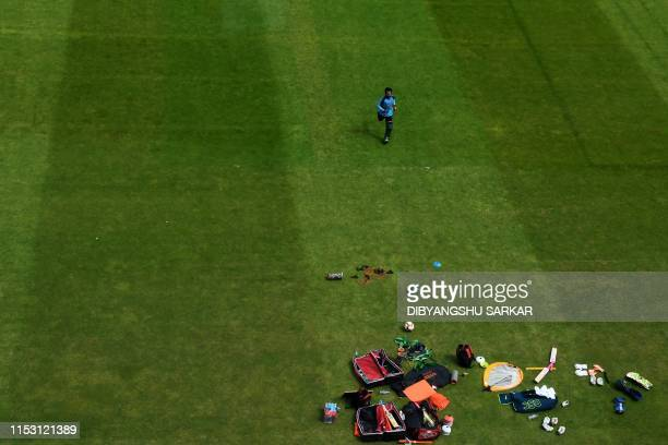 TOPSHOT Bangladesh's Mushfiqur Rahim attends a training session at Edgbaston in Birmingham central England on July 1 ahead of their 2019 Cricket...
