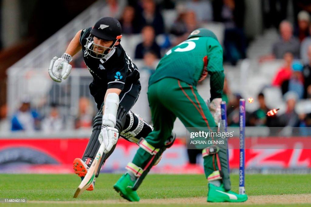 TOPSHOT-CRICKET-WC-2019-BAN-NZL : News Photo
