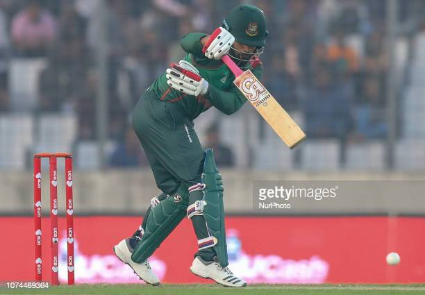 Bangladesh's Tamim Iqbal plays a shot during the second T20 match between Bangladesh against West Indies in Mirpur, Dhaka, Bangladesh on December 20,...