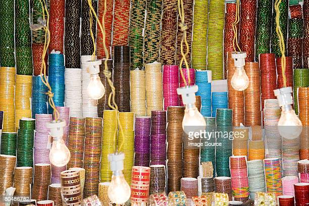 bangles on a market stall - bangle stock pictures, royalty-free photos & images