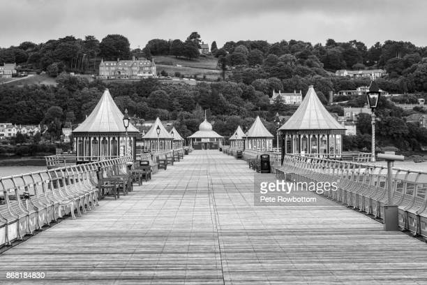 bangor victorian pier - bangor wales stock photos and pictures