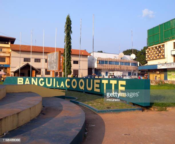 """bangui, central african republic - central square, the city is known as """"bangui, la coquette"""" - central african republic stock pictures, royalty-free photos & images"""