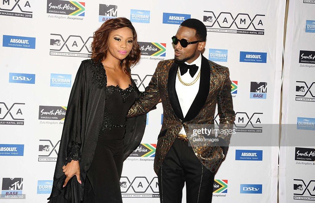 D'Banj of Nigeria and his girlfriend Bonang Matheba seen on
