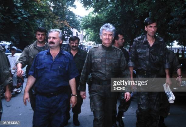 Banja Luka Radovan Karadzic in down town of Banja Luka