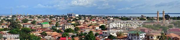 banjul panorama, the gambia - banjul stock pictures, royalty-free photos & images