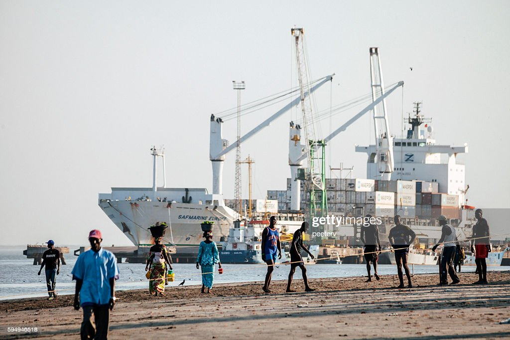 Banjul port, The Gambia. : Stock Photo