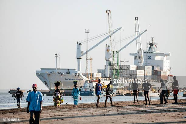 Banjul port, The Gambia.