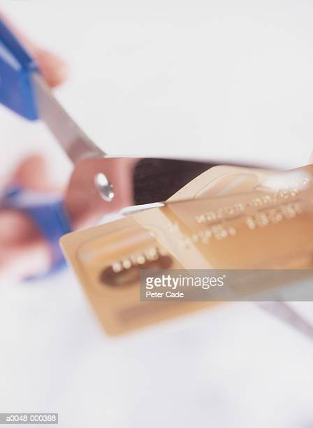 Bank Card Being Cut in Half
