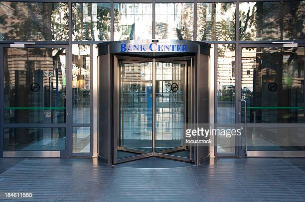 Bank center entrance