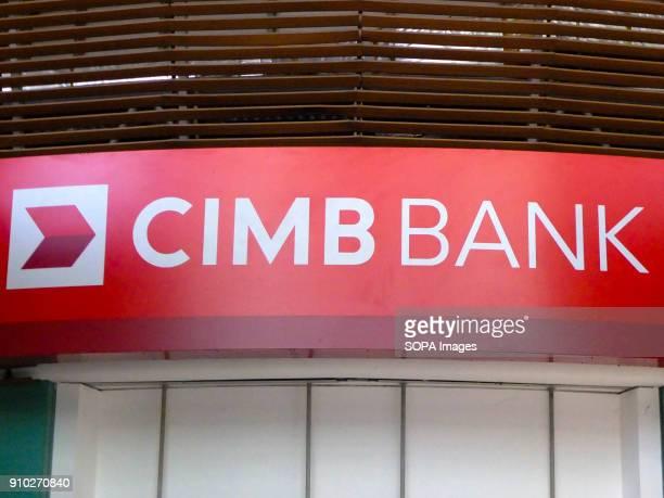 CIMB bank commercial sign is seen at Kuala Lumpur  Kuala