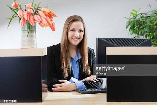 bank counter window with friendly & smiling teller hz - cashier stock pictures, royalty-free photos & images