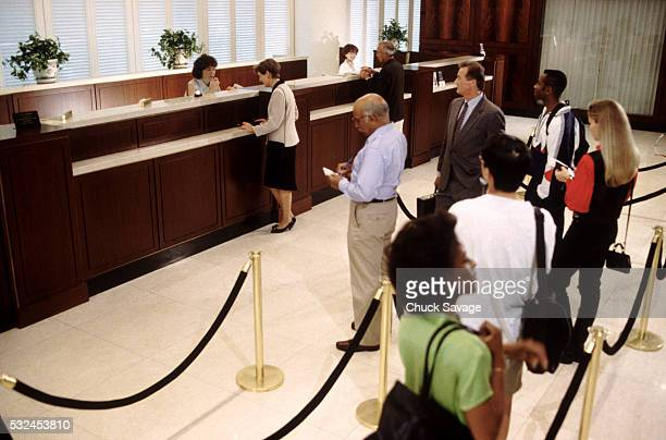 Bank Customers in Line