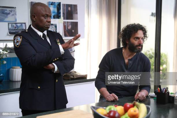 NINE 'Bank Job' Episode 421 Pictured Andre Braugher as Captain Ray Holt Jason Mantzoukas as Adrian Pimento