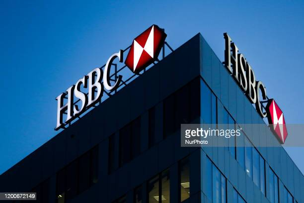Bank logo is seen on the office building in Krakow, Poland on February 12, 2020.