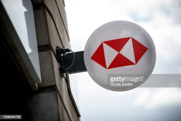 UK bank logo is seen outside a branch in central London on July 31 2018 HSBC will publish their halfyear results on August 6