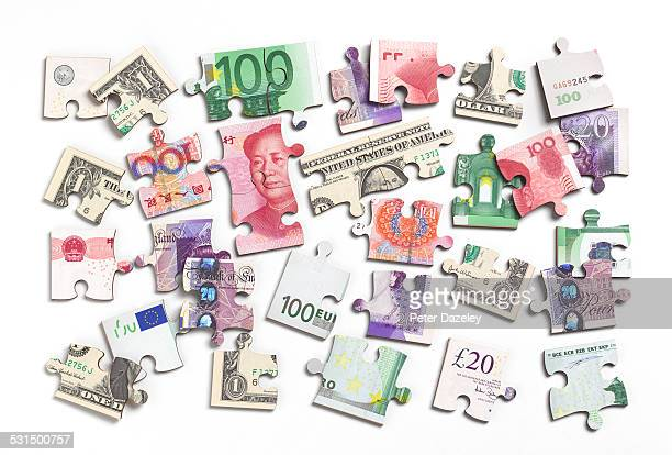 Bank note jigsaw pieces