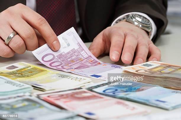 bank notes - banconote euro foto e immagini stock