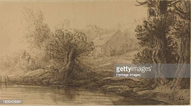 Bank of a River. Artist Alphonse Legros.