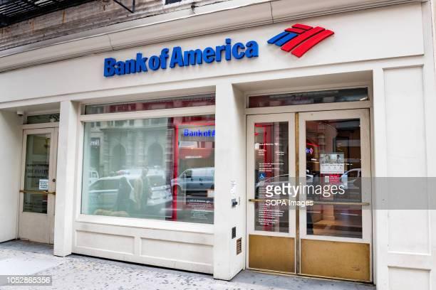 Bank of America bank branch in the SoHo neighbourhood of New York City