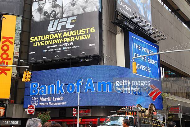 Bank Of America billboard in Times Square in New York New York on AUG 04 2011