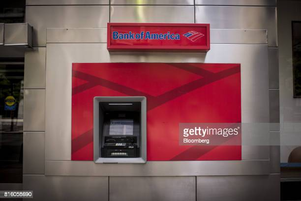 A Bank of America Corp automatic teller machine stands outside a branch in Chicago Illinois US on Sunday July 9 2017 Bank Of America Corp is...