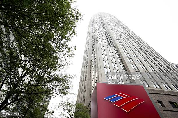 Bank of America Corp signage is displayed outside the company's headquarters in Charlotte North Carolina US on Monday May 2 2016 Bank of America's...