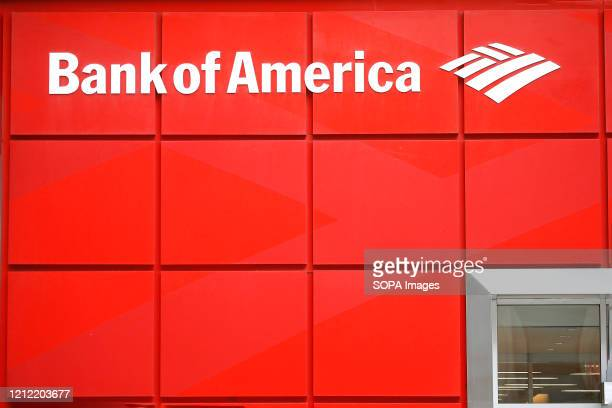 Bank of America logo is seen on one of their branches