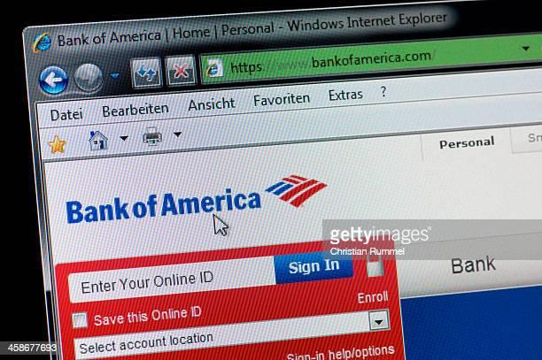 Bank of America-Makro Schuss von real-Bildschirm