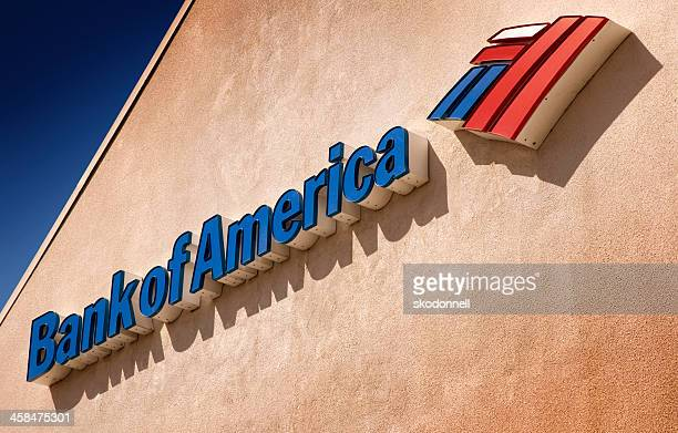 bank of america sign - bank of america stock pictures, royalty-free photos & images
