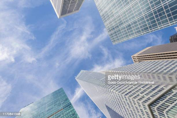 bank of america tower and others building around bryant park - image stock pictures, royalty-free photos & images