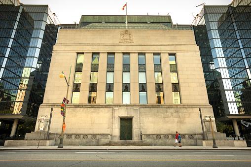 Bank of Canada financial building exterior in Ottawa Canada 960641080