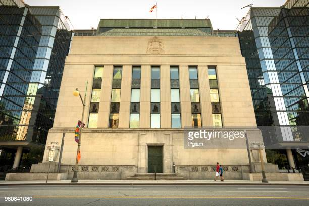 bank of canada financial building exterior in ottawa canada - canada stock pictures, royalty-free photos & images