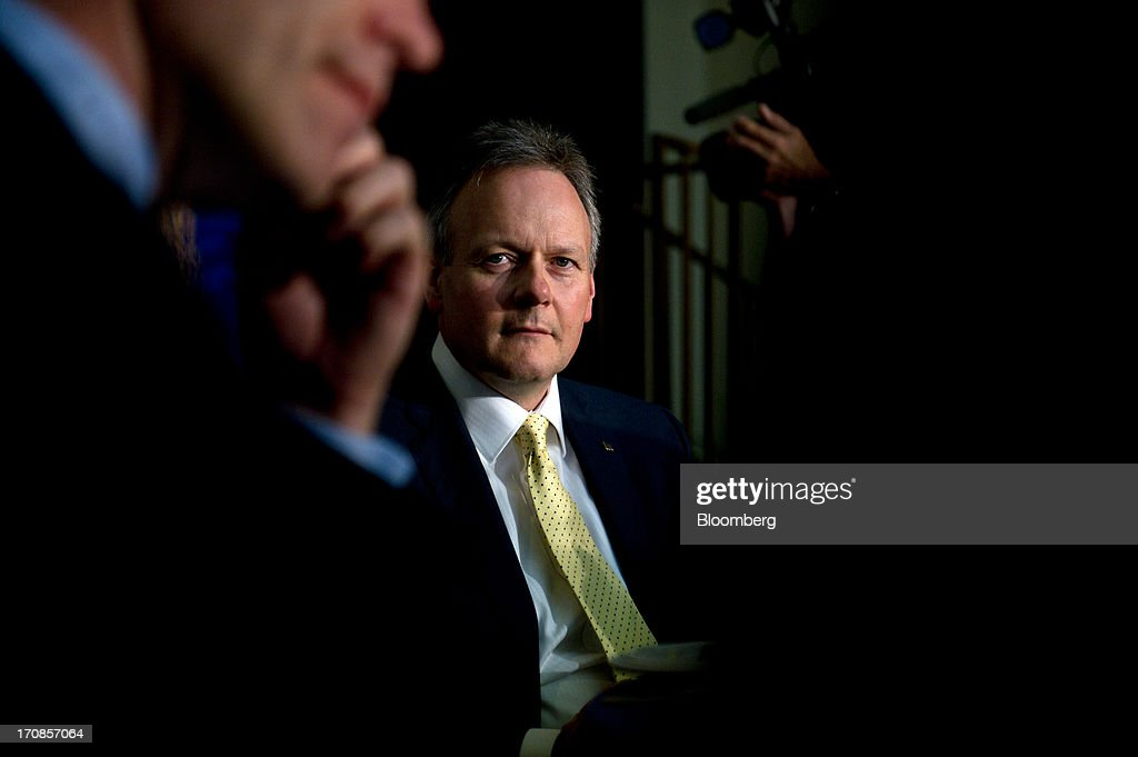 Bank of Canada Governor Stephen Poloz waits to deliver his first speech at the Oakville Chamber of Commerce luncheon in Burlington, Ontario, Canada, on Wednesday, June 19, 2013. Poloz said the nation will need a rebound in business confidence to drive growth in coming years, a process that will require 'stability and patience.' Photographer: Galit Rodan/Bloomberg via Getty Images
