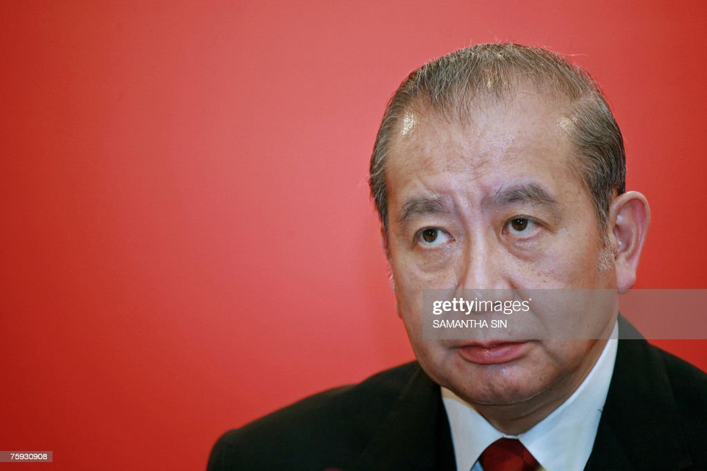 Bank of East Asia chairman David Li look : Nachrichtenfoto