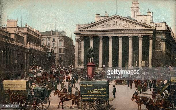 Bank of England and Royal Exchange' circa 1910 [J Beagles Co London circa 1910] Artist Unknown