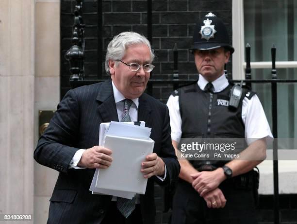 Bank of England Governor Mervyn King leaves 10 Downing Street London