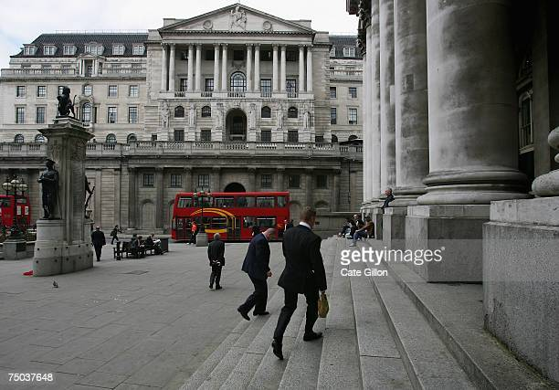 Bank of England headquarters on Threadneedle Street in London City Bank of England raised UK interest rates to 575per cent which is its fifth rate...