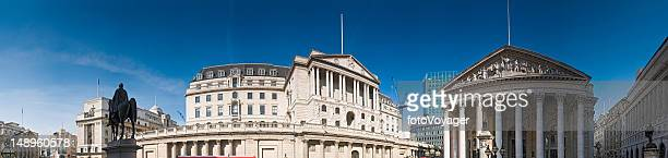bank of england london panorama - bank of england stock photos and pictures