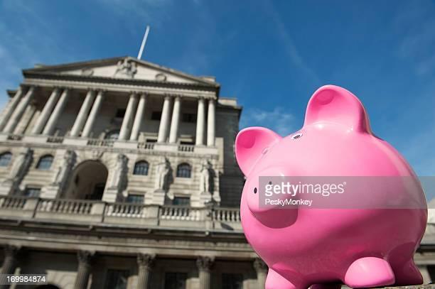 Bank of England Stands Behind Pink Piggybank