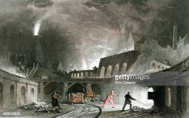 Bank of furnaces Lymington Iron Works Tyneside England 1835 By this time the Nielsen hot blast process invented in 1824 was in general use