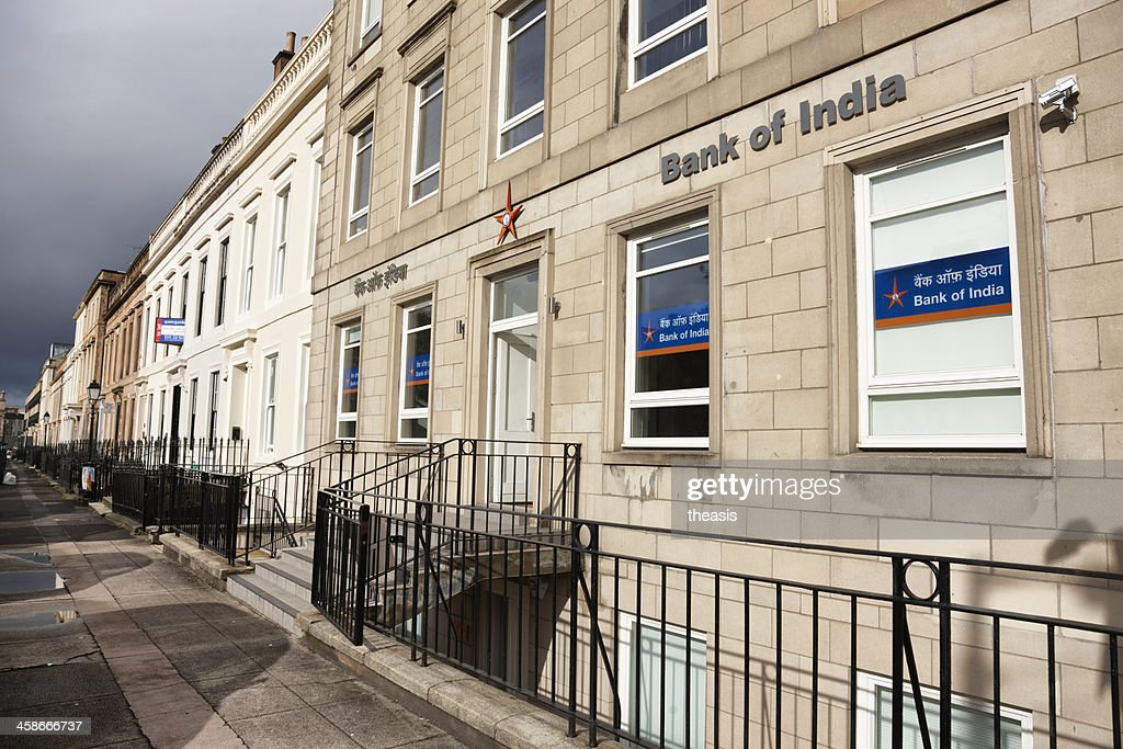 Bank of India Offices, Glasgow : Stock Photo